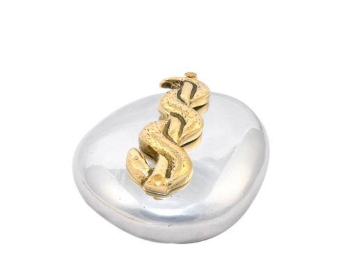 Σετ Γραφειου 3 τεμ. - Κηρύκειο του Ασκληπιού (Σύμβολο Ιατρικής) Καρτοθήκη, Πρες Παπιέ, Μολυβοθήκη