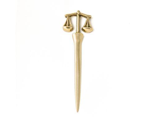 Χαρτοκόπτης - Μεταλλικό Αξεσουάρ Γραφείου, Ζυγός Θέμιδος (Σύμβολο Δικαιοσύνης)