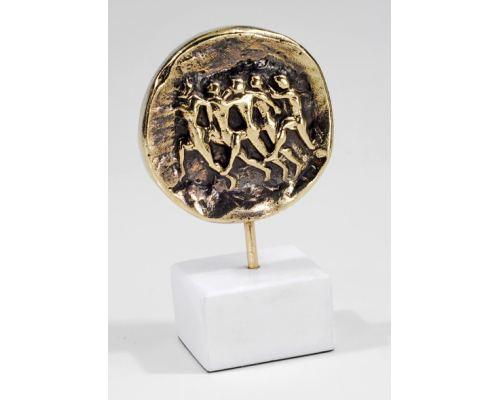 Μεταλλικό Γλυπτό Διακοσμητικό – Δρομείς (11.5cm)