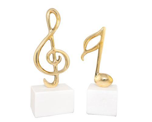 Μεταλλικό Γλυπτό Διακοσμητικό – Μουσική Νότα & Μουσικό Κλειδί του Σολ - 2 Σχέδια
