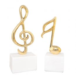 Metal Table Sculpture - Music Note & Music Key Note Symbol - 2 Designs