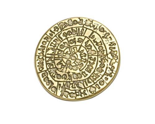 Πρες Παπιέ – Μεταλλικό Αξεσουάρ Γραφείου, Δίσκος της Φαιστού, Χρυσό
