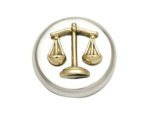 Πρες Παπιέ - Μεταλλικό Αξεσουάρ Γραφείου, Ζυγός Θέμιδος (Σύμβολο Δικαιοσύνης)