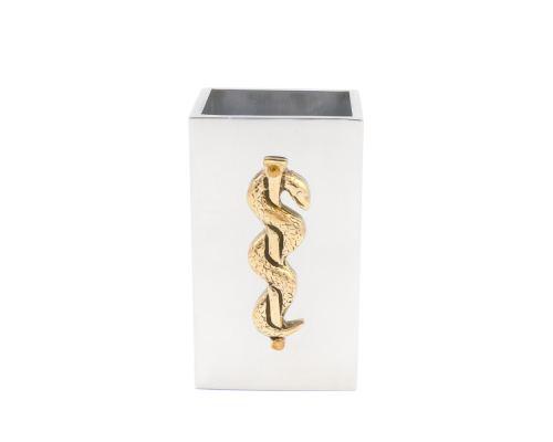 Μολυβοθήκη - Μεταλλικό Αξεσουάρ Γραφείου, Κηρύκειο του Ασκληπιού (Σύμβολο Ιατρικής)