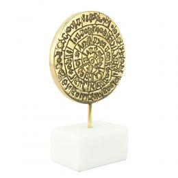 Μεταλλικό Γλυπτό Διακοσμητικό – Δίσκος της Φαιστού (13.5cm)