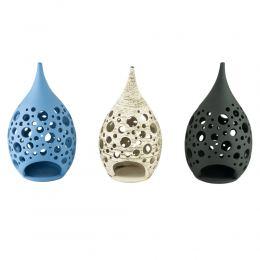 Modern Ceramic Tealight Candle Lantern, Large, Design C - 3 Colors
