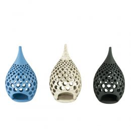 Modern Ceramic Tealight Candle Lantern, Small, Design B - 3 Colors