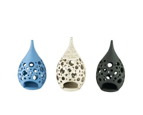 Modern Ceramic Tealight Candle Lantern, Small, Design C - 3 Colors