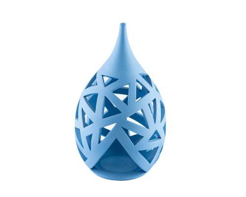 Σετ Κεραμικά Φαναράκια, Μπλε, Μικρό & Μεγάλο - Σχέδιο Α