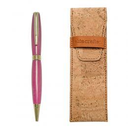 """Στυλό Διαρκείας, Χειροποίητο από Ροζ Ρητίνη, Σειρά """"Hermes"""""""