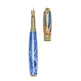 """Πένα Γραφής, Χειροποίητη από Ξύλο Ελιάς & Μπλέ Ρητίνη - Σειρά """"Lexis"""", 2"""