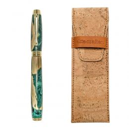 """Πένα Γραφής, Χειροποίητη από Ξύλο Ελιάς & Πράσινη Ρητίνη - Σειρά """"Lexis"""""""