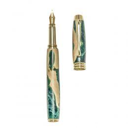 """Πένα Γραφής, Χειροποίητη από Ξύλο Ελιάς & Πράσινη Ρητίνη - Σειρά """"Lexis"""", 2"""