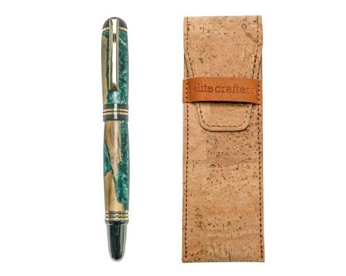 """Πένα Γραφής, Χειροποίητη από Ξύλο Ελιάς & Πράσινη Ρητίνη - Σειρά """"Praxis"""""""