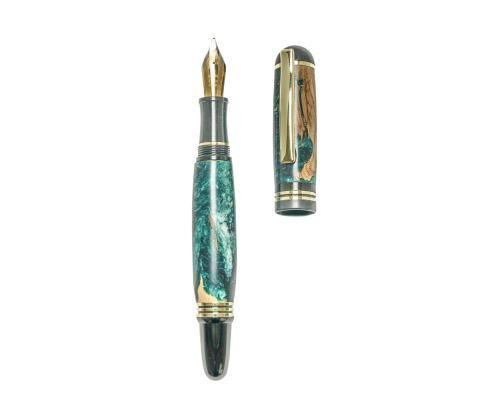 """Πένα Γραφής, Χειροποίητη από Ξύλο Ελιάς & Πράσινη Ρητίνη - Σειρά """"Praxis"""", 2"""