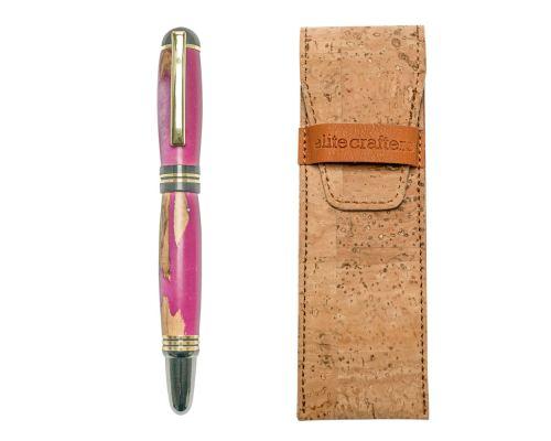 """Πένα Γραφής, Χειροποίητη από Ξύλο Ελιάς & Ροζ Ρητίνη - Σειρά """"Praxis"""""""