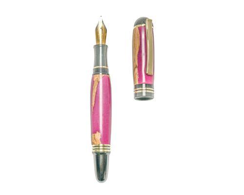 """Πένα Γραφής, Χειροποίητη από Ξύλο Ελιάς & Ροζ Ρητίνη - Σειρά """"Praxis"""", 2"""