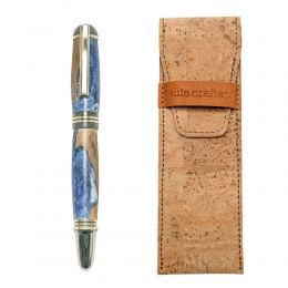 """Στυλό Διαρκείας, Χειροποίητο από Ξύλο Ελιάς & Μπλέ Ρητίνη, Σειρά """"Praxis"""""""