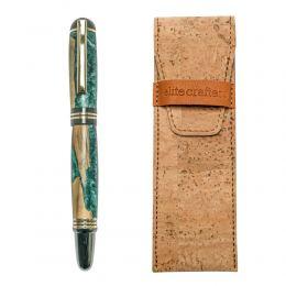 """Στυλό Διαρκείας, Χειροποίητο από Ξύλο Ελιάς & Πράσινη Ρητίνη, Σειρά """"Praxis"""""""