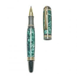 """Στυλό Διαρκείας, Χειροποίητο από Ξύλο Ελιάς & Πράσινη Ρητίνη, Σειρά """"Praxis"""", 2"""
