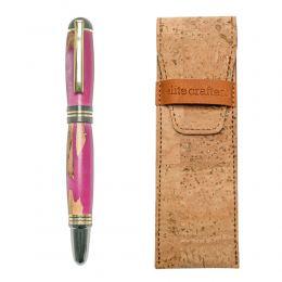 """Στυλό Διαρκείας, Χειροποίητο από Ξύλο Ελιάς & Ροζ Ρητίνη, Σειρά """"Praxis"""""""