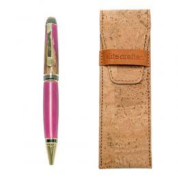 """Στυλό Διαρκείας, Χειροποίητο από Ξύλο Ελιάς & Ροζ Ρητίνη, Σειρά """"Zeus"""""""
