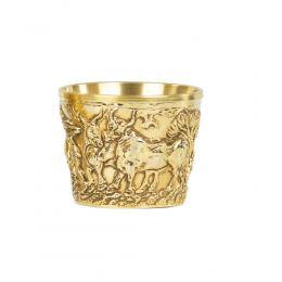 Επίχρυσο Κύπελλο, Μουσειακό Aντίγραφο - Βαφειό Λακωνίας, 15ος αι.π.Χ. - Σχέδιο Ήμερα Ζώα, Μεγάλο