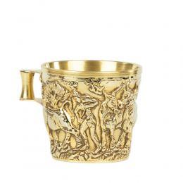 Επίχρυσο Κύπελλο, Μουσειακό Αντίγραφο - Βαφειό Λακωνίας, 15ος αι.π.Χ. - Σχέδιο Ήμερα Ζώα, Μικρό