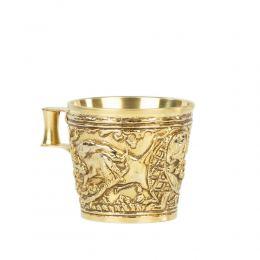 Επίχρυσο Κύπελλο, Μουσειακό Αντίγραφο - Βαφειό Λακωνίας, 15ος αι.π.Χ. - Σχέδιο Αγρια Ζώα, Μεγάλο