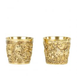 Επίχρυσο Κύπελλο, Μουσειακό Αντίγραφο - Βαφειό Λακωνίας, 15ος αι.π.Χ. - Σχέδιο Αγρια Ζώα, Μικρό
