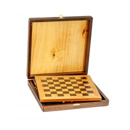 Σκάκι απο Ξύλο Ελιάς σε Ξύλινο Κουτί 8A