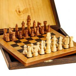 Σκάκι απο Ξύλο Ελιάς σε Ξύλινο Κουτί 4A