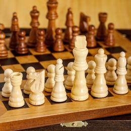Σκάκι απο Ξύλο Ελιάς σε Ξύλινο Κουτί 5A