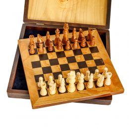 Σκάκι απο Ξύλο Ελιάς σε Ξύλινο Κουτί 9A