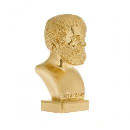 Άγαλμα, Αριστοτέλης Προτομή, 24 cm, Χρυσό 1