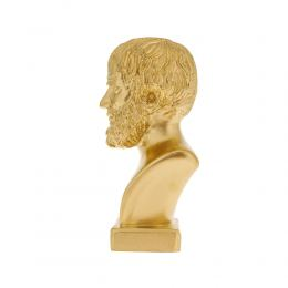 Άγαλμα, Αριστοτέλης Προτομή, 24 cm, Χρυσό 2
