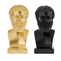 Άγαλμα, Αριστοτέλης Προτομή, 24 cm, Μαύρο και Χρυσό