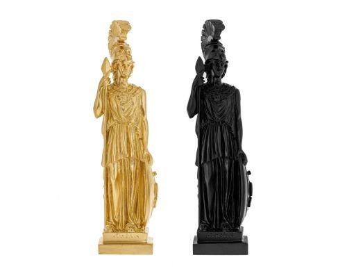 Άγαλμα Θεά Αθηνά, 26 cm, Μαύρο και Χρυσό