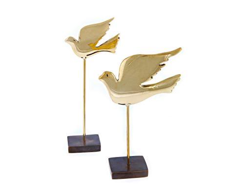 Μεταλλικό Διακοσμητικό Πουλί σε Βάση, 18cm