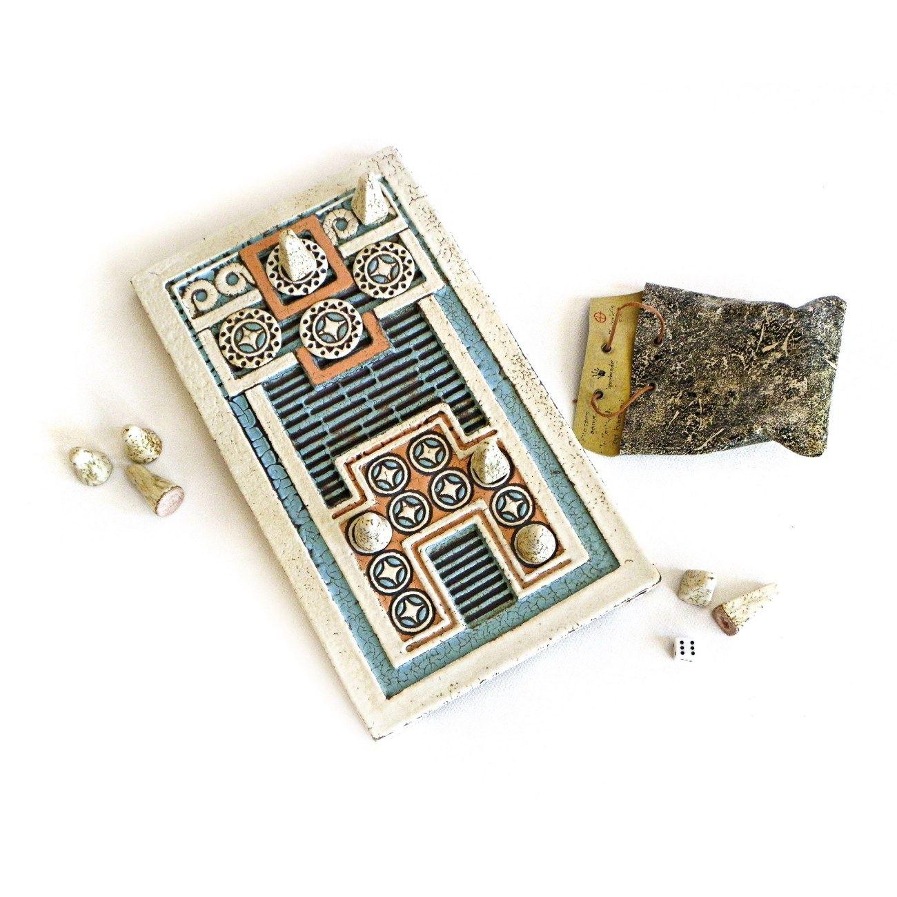 Decorative Product Board : Knossos decorative board game handmade ceramic ancient