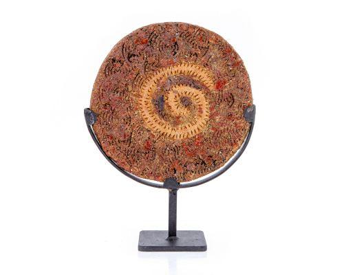 Διακοσμητικός Δίσκος - Κεραμικό Γλυπτό με Βάση, Σχέδιο Α'
