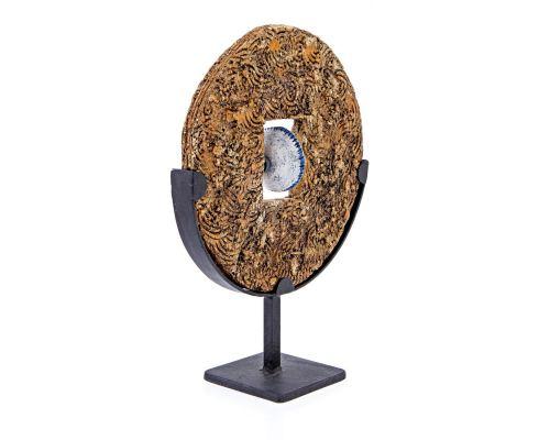 Διακοσμητικός Δίσκος - Κεραμικό Γλυπτό με Βάση, Σχέδιο Β'