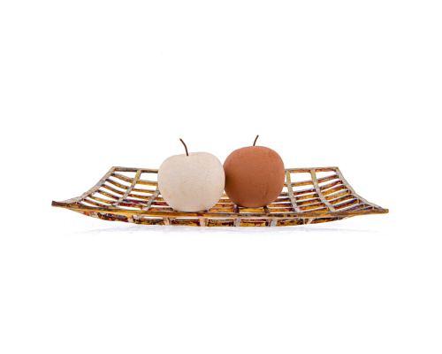 Σετ Διακοσμητικά Φρούτα - Κεραμικά Μήλα, Μπεζ - Τερακότα