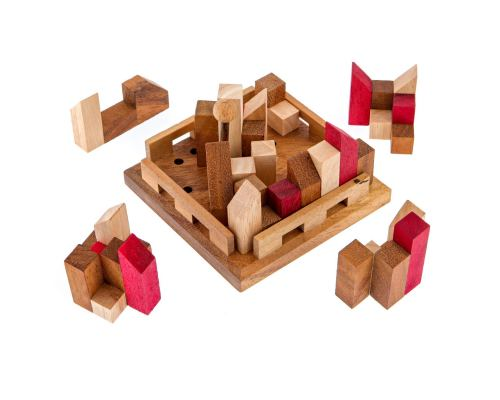 """The City"" Brain Teaser Game - Handmade Wooden Mind Puzzle"