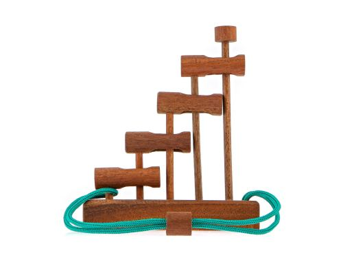 """The Ladder"" Brain Teaser Game - Handmade Wooden Mind Puzzle"