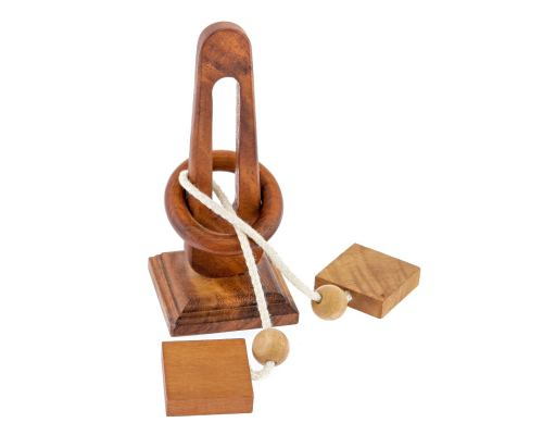 """""""Unlock the Ring"""" Brain Teaser Game - Handmade Wooden Mind Puzzle"""