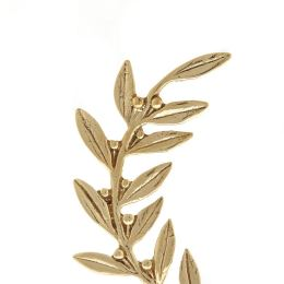 Κλαδί Ελιάς - Μεταλλικό Διακοσμητικό με Βάση