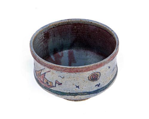 Κεραμικό Μπωλ - Διακοσμητικό Αντικείμενο - Σχέδιο Καράβι