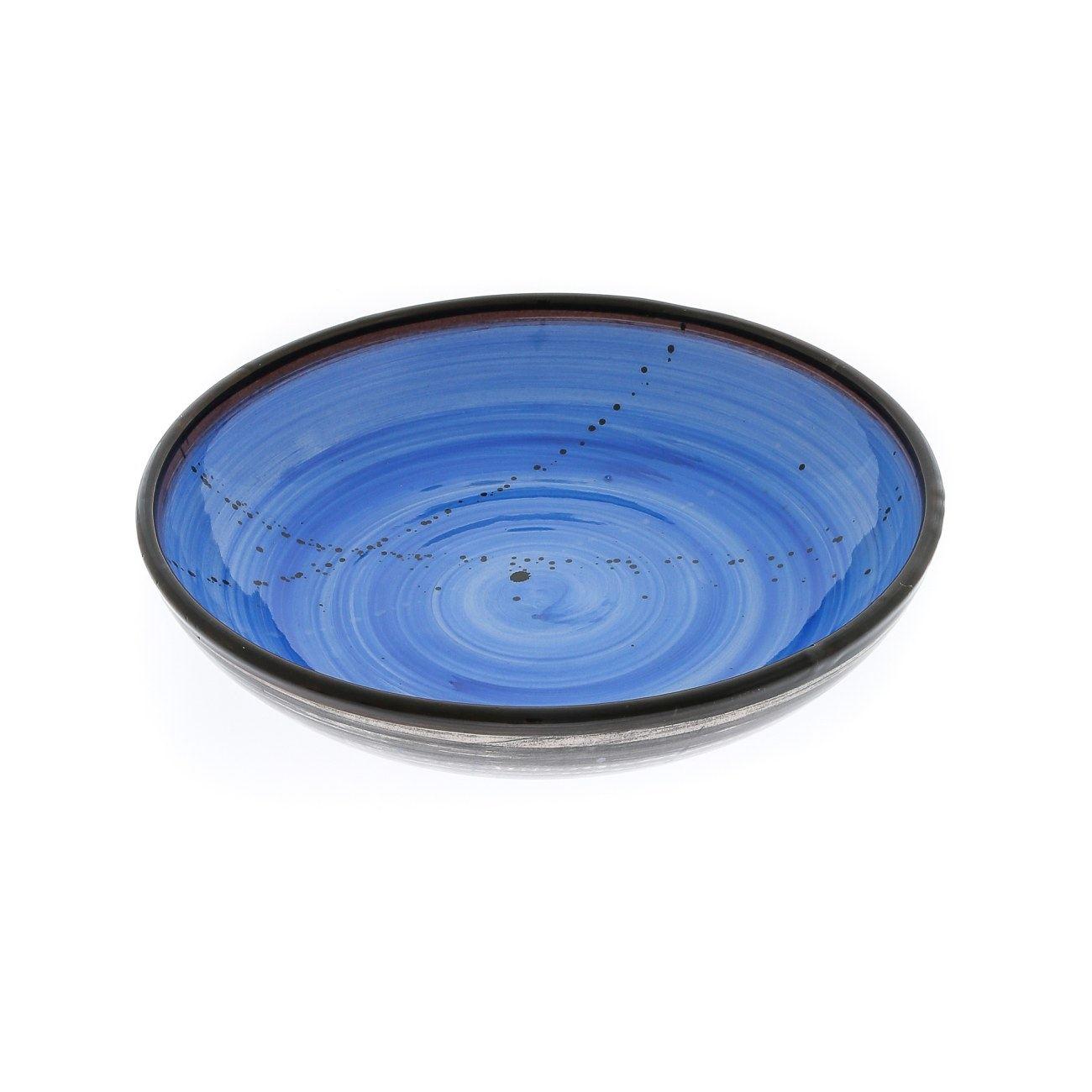 sc 1 st  Elite Crafters & Serving Bowl or Platter - Handmade Ceramic Centerpiece - Blue 13