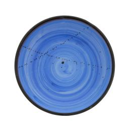 "Serving Bowl or Platter - Handmade Ceramic Centerpiece - Blue 13""- 33cm"